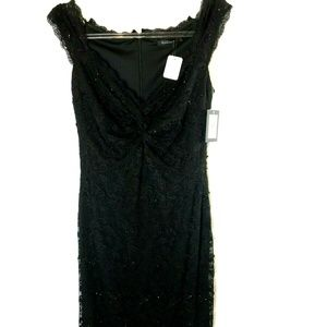 NWT Marina Lace Sequins Beads Cocktail Dress 4